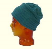 Mütze aus Babyalpaka grünmeliert