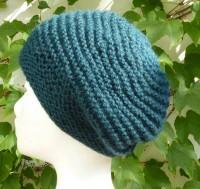 Alpaka Mütze grünblau