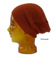 Mütze aus Babyalpaka- orange