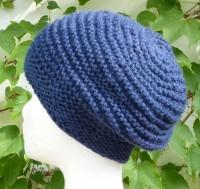 Alpaka Mütze dunkelblau