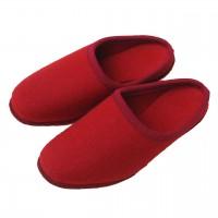 Filzpantoffeln-Filzlaufsohle-Rot