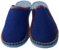 Kinderpantoffeln Größe 33/34 / Bordüre marineblau