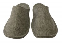 latexierte Pantoffeln Größe 38/39 grau