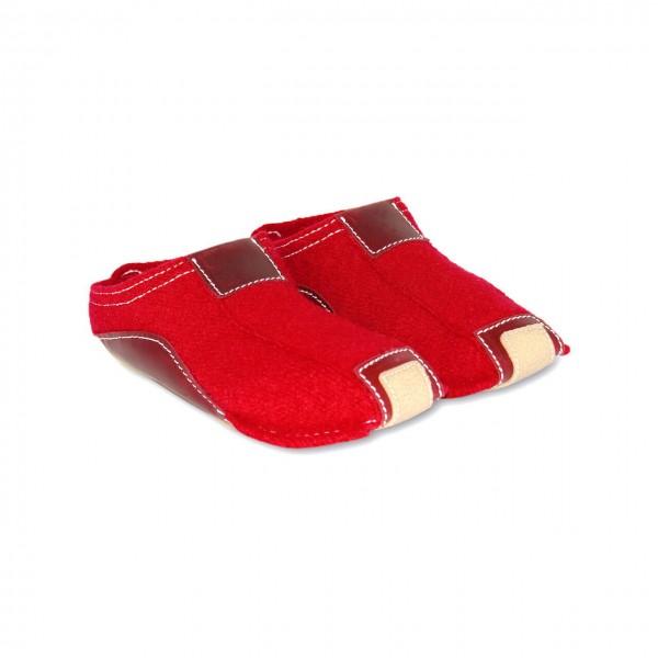 Haflinger-Filzpantoffeln-Pokahontas-Rot