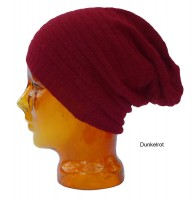 Mütze aus Babyalpaka dunkelrot