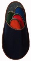 Gästepantoffelset dunkelblau