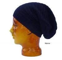 Mütze aus Babyalpaka in dunkelblau