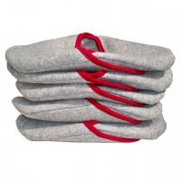 Schlosspantoffeln - leicht - Größe L - 5 Paar/Set, Bordüre rot